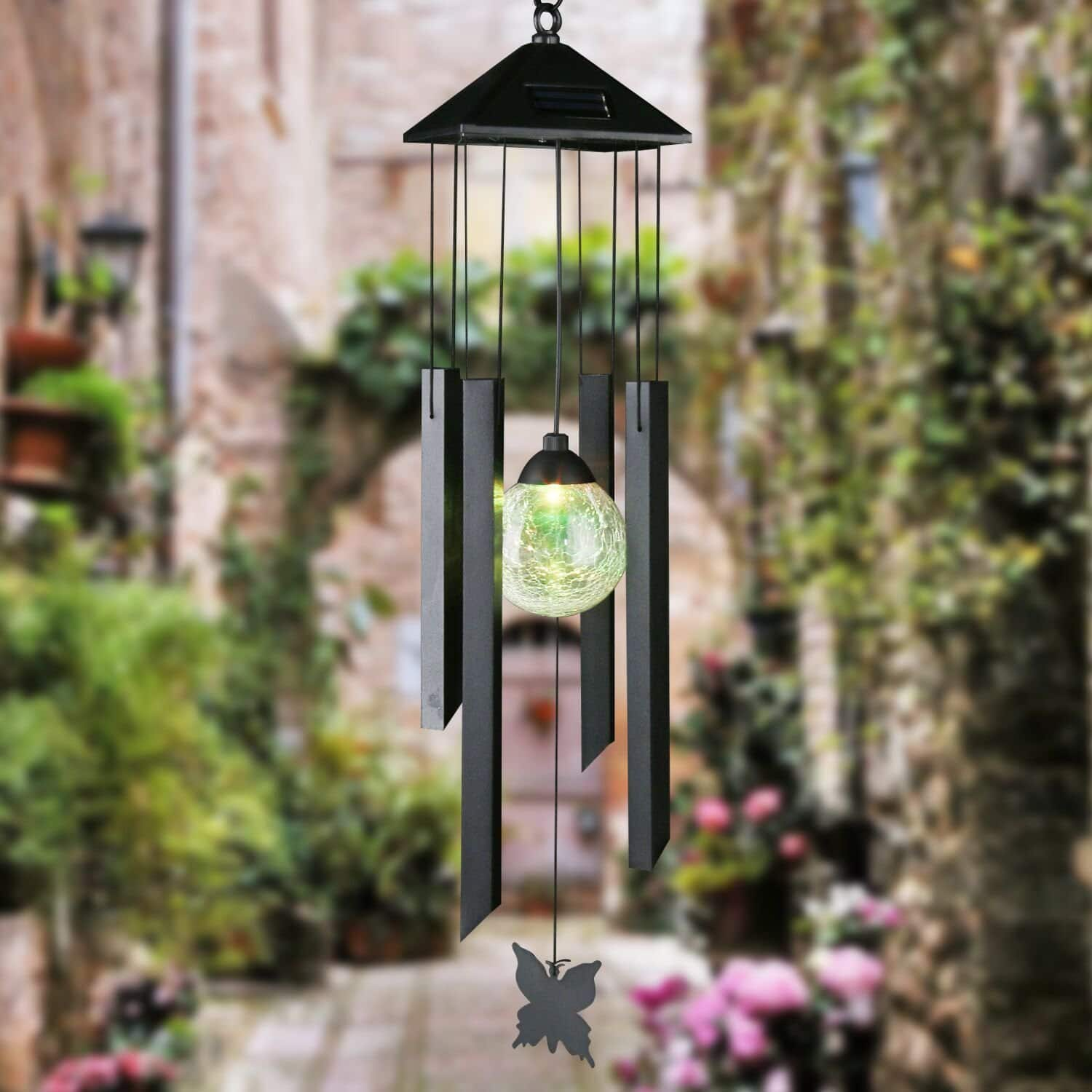 Solar Powered Wind Chime, Garden Lights with Color Changing LED for $16.79 @ Amazon