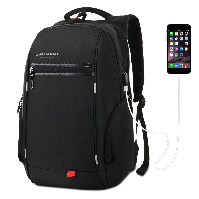 37L Laptop Backpack USB Charging Port Waterproof- $23.99 AC @Amazon