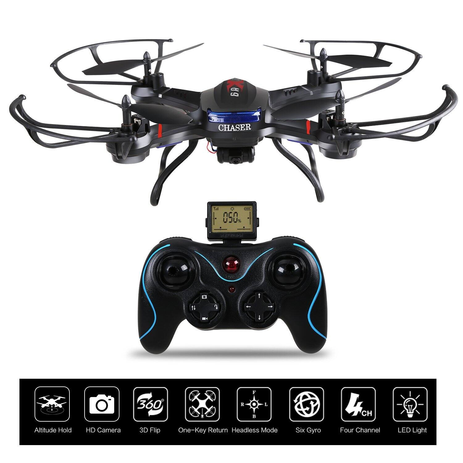 F181C RC Quadcopter Drone with HD Camera RTF 4 Channel 2.4GHz 6-Gyro for $59.99 AC + Free Shipping