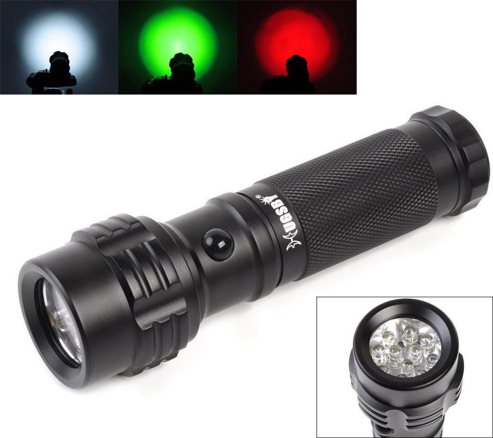 Welltop 11-LED Powered Mini Pocket Tri-Color Flashlight- $7.79 @ Amazon