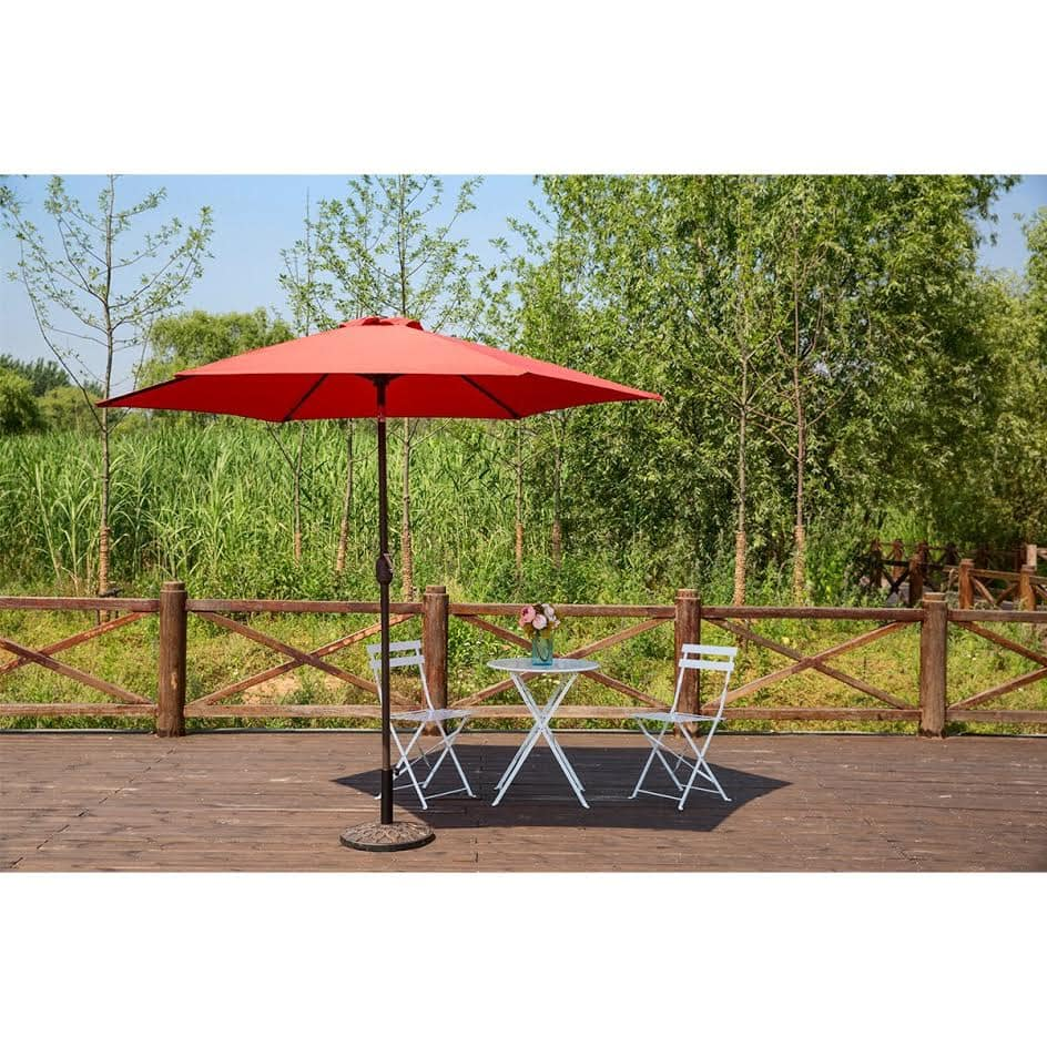 HollyHOME 9 Ft UV Protective Patio Umbrella with Push Button Tilt and Crank- $29.94 @ Amazon