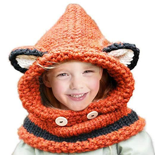 Jhua Kids Knitted Hood Beanie/Scarf for $7.14 FS w/Amazon Prime