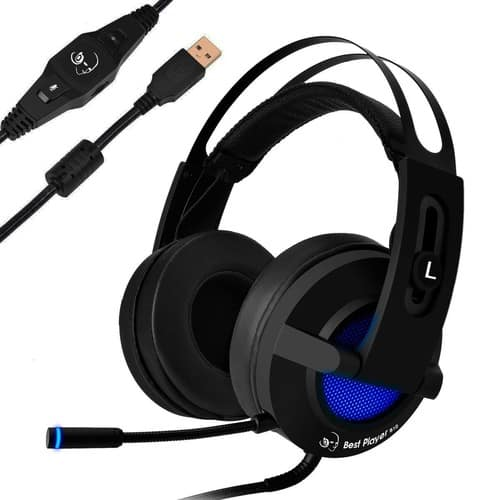 USB Gaming Headset with 7.1 Surround Sound for $18.99 /Amazon Prime