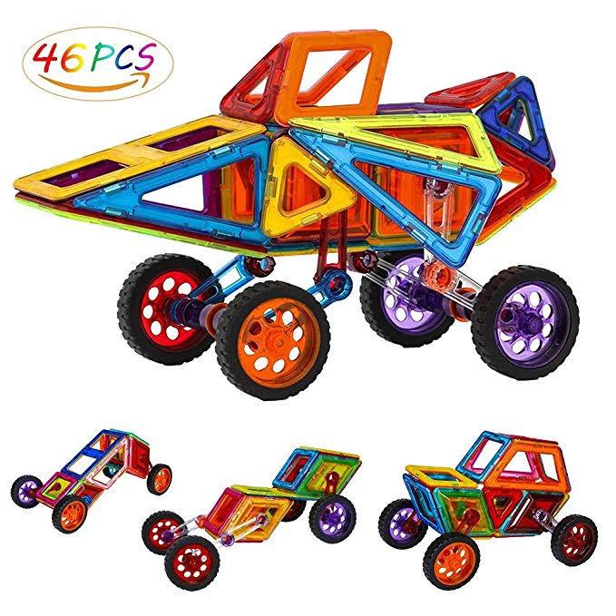 46 PCS Magnet Tile Building Block Kits $11.99 FS w/Prime $11.99