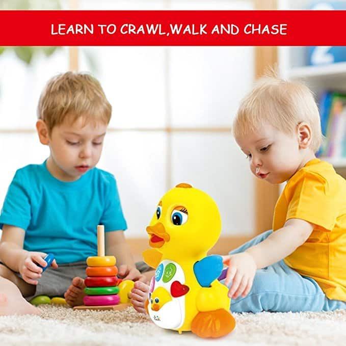 Musical Dancing and Singing Duck Toy– Walks, Flaps Wings- $12.74 FS w/Prime