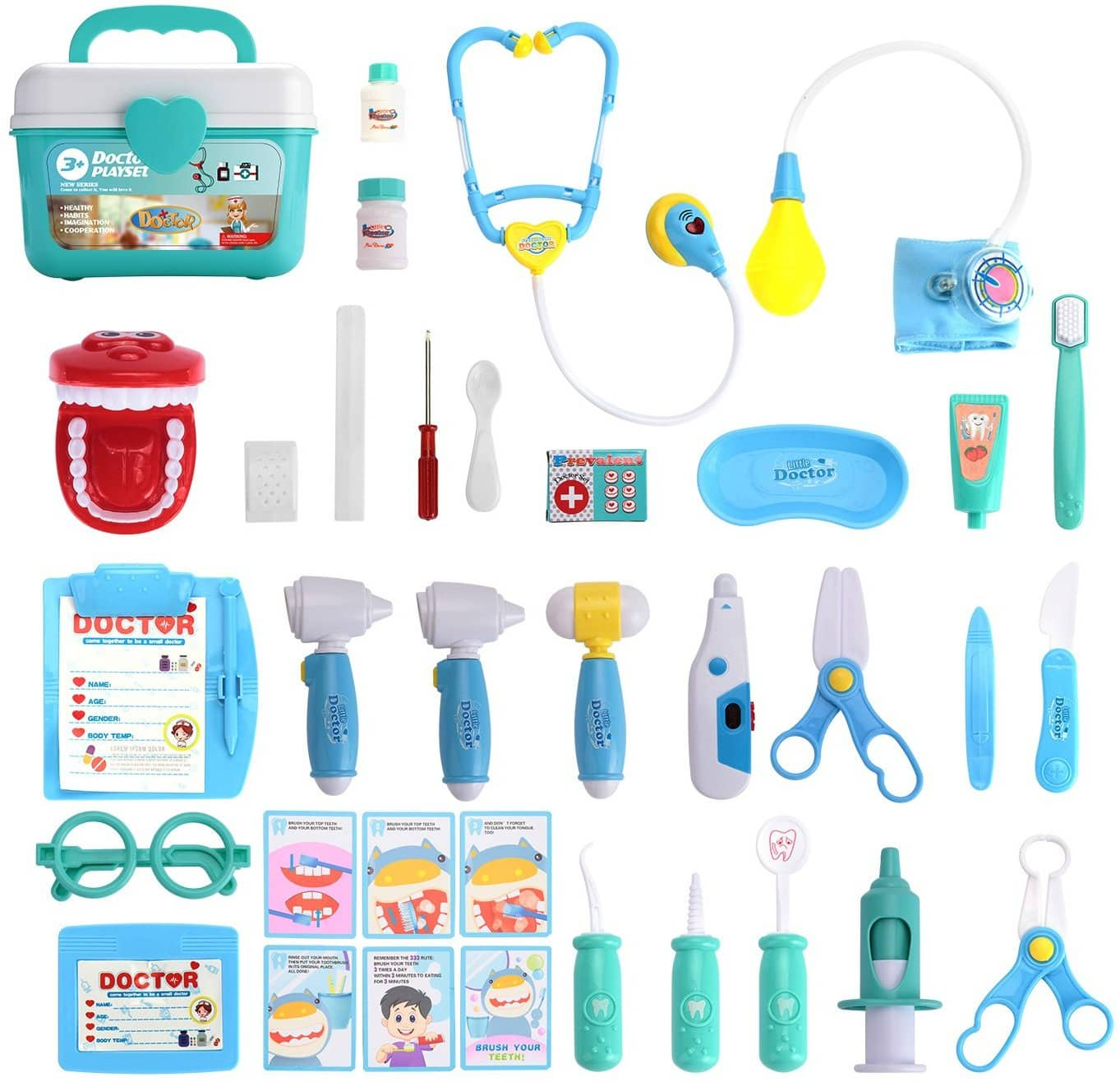 31 Piece Pretend-n-Play Dentist Medical Kit with Electronic Stethoscope and Coat for Kids- $14.29 FS w/Prime