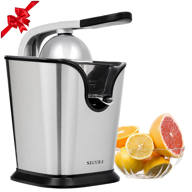 Electric Citrus Juicer Press | 160-Watt Stainless Steel Orange Juice Squeezer GS-405Y by Secura - $25