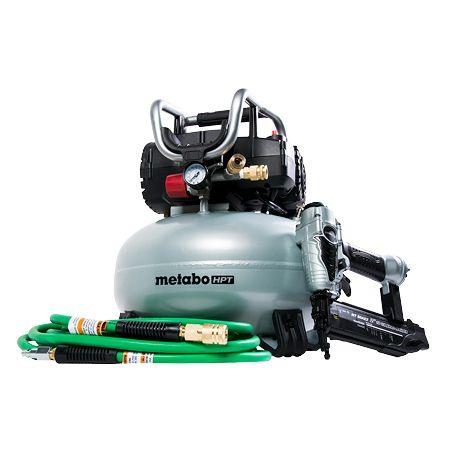 Metabo-HPT KNT50ABM 3 Pcs Finish Combo Kit (Renewed A, includes 18ga Brad nailer, 6 gallon pancake) - $100 shipped
