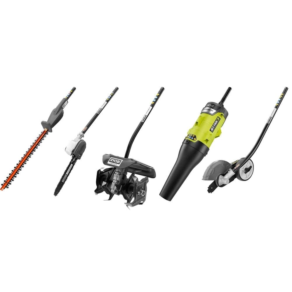 RYOBI Expand-It Edger, Hedge Trimmer, Blower, Pruner and Cultivator Attachment Kit-RYATT-CMB1 - $329.00