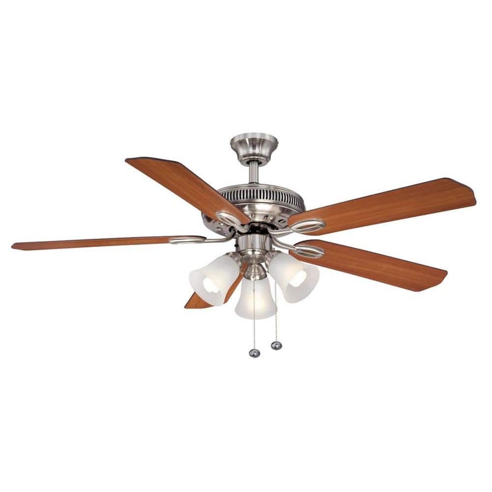 Glendale II 52 in. Brushed Nickel Ceiling Fan for $26.54 at Home Depot + Free Store Pickup