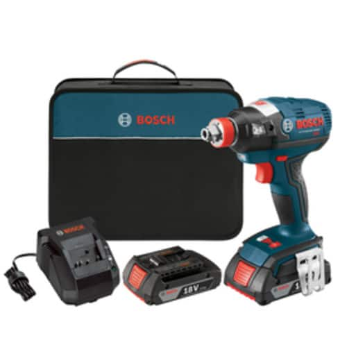 Bosch Freak 18-Volt Variable Speed Brushless Cordless Impact Driver, 2 Batteries, Charger, Case $64.75 @ Lowes