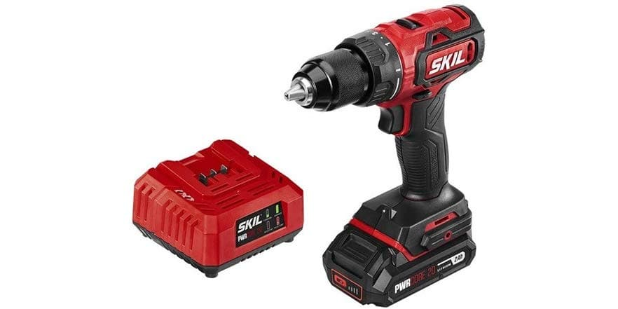"""SKIL PWRCore 20V Brushless 1/2"""" Drill/Driver with 2.0Ah Lithium Battery and Charger (DL529303) $59.99 @ WOOT"""