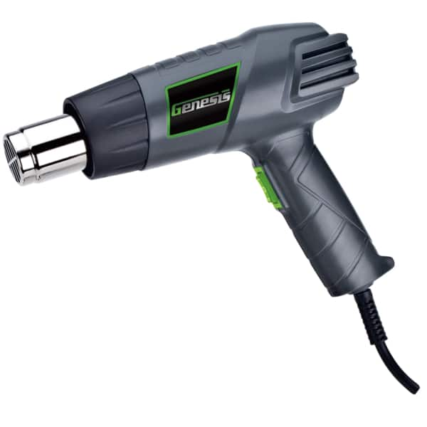 UPDATE: Genesis 12.5A Dual-Temp Heat Gun with 4 Nozzles - $15.97 ~18 % off (or $14.37, Additional 10%/total 26+%, off - w/coupon for HD CC) + Tax, Free Ship to home