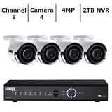 Lorex 8-Channel 4-Camera 4MP Security System with 2TB HDD NVR ($499 + taxes)