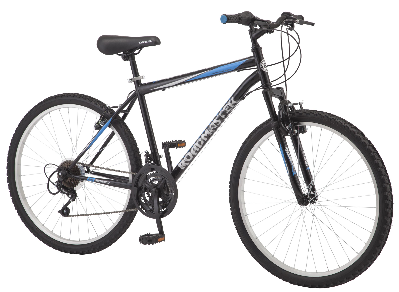 Roadmaster Granite Peak Men's Mountain Bike, 26-inch wheels, black  $98