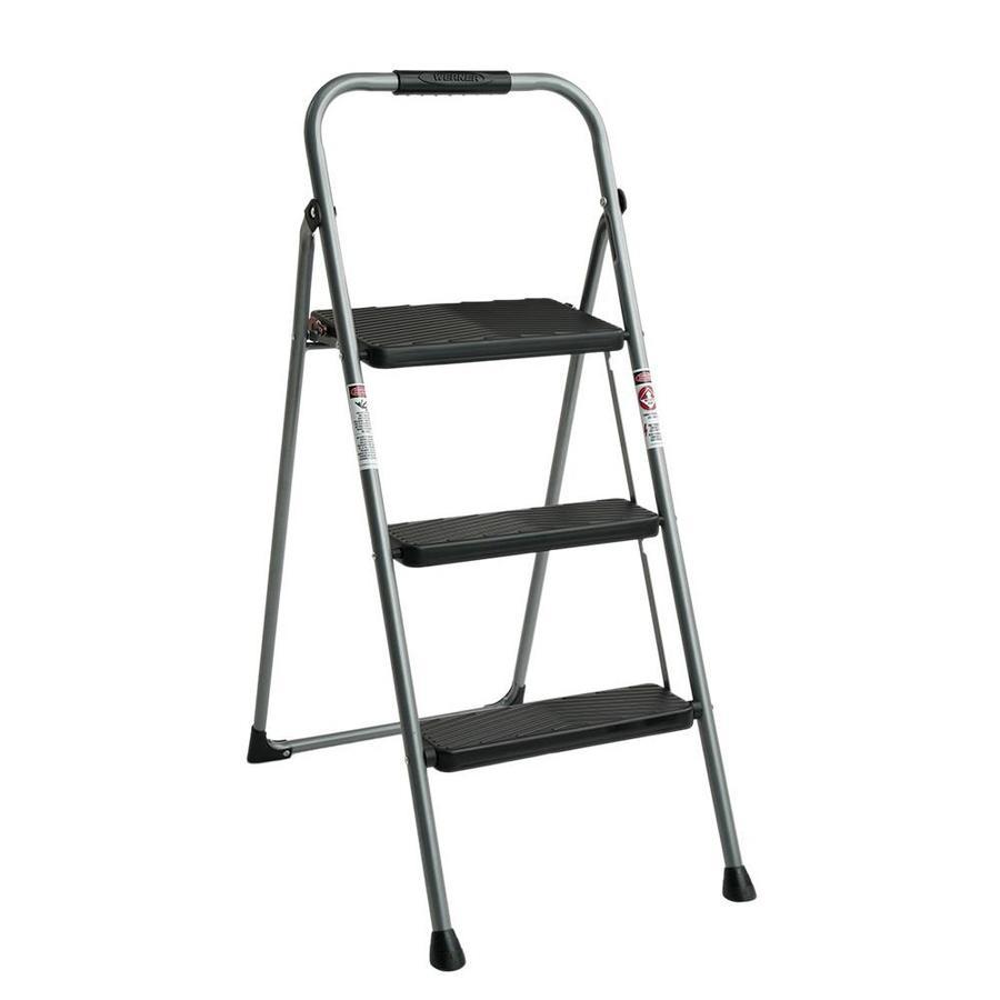 Werner 2-Step 225 lbs. Capacity Gray Steel Foldable Step Stool - $12.99 @ lowes