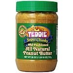 Teddie All Natural Peanut Butter, Super Chunky, 26-Ounce Jar (Pack of 3) $10 or less + free shipping