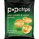 Popchips potato chips SOUR CREAM and ONION, single serve 0.8 Ounce (Pack of 24)$10.32 or less + free shipping (prime only)