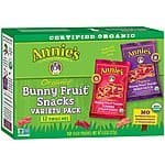 Annie's Organic Bunny Fruit Snacks Variety Pack, 9.6 Ounce $5.68 + free shipping w/prime