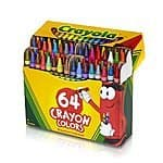 Crayola 64 Ct Crayons $2.99 + free shipping w/prime