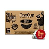 Amazon Deal: San Francisco Bay Coffee,  Fog Chaser, 80 OneCup Single Serve K-Cups $24.70 or lower (subscribe&save)