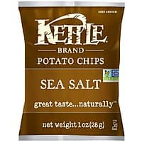 Amazon Deal: Kettle Chips Sea Salt, 1-Ounce (Pack of 72) $25 or lower (clip 15% coupon + subscribe & save)
