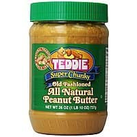 Amazon Deal: Teddie All Natural Peanut Butter, Super Chunky, 26-Ounce Jar (Pack of 3) $10 or less + free shipping