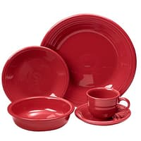 "4x 5-Pc or 4-Pc Fiesta Dinnerware Sets $64, All-Clad 10"" Fry Pan"
