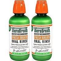 2-Pack 16oz TheraBreath Oral Rinse (Mild Mint)