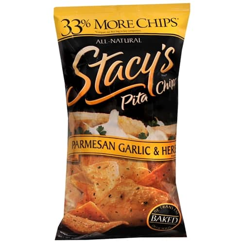 Stacy's Baked Pita Chips, 12 bags, Parmesan, Garlic & Herb (8oz each) $2.29 + free shipping w/ShopRunner @ drugstore.com   *93% off*