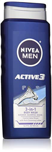 NIVEA MEN Active3 3-in-1 Body Wash, 16.9 oz Bottle (Pack of 3) as low as $2.52 + free shipping *act fast*