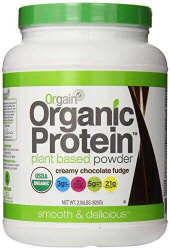 Orgain Organic Protein Plant-Based Powder, Creamy Chocolate Fudge, 2.03 Pound $17.80 or less + free shipping