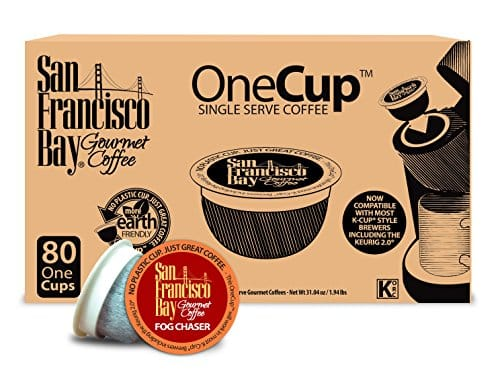 San Francisco Bay OneCup, Fog Chaser, 80 Single Serve Coffees $21.75 or less + free shipping & more