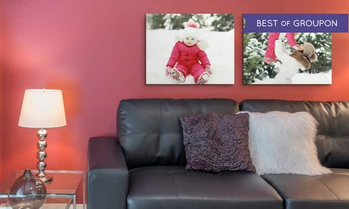 """2-Pack Canvas on Demand 20""""x16"""" Canvas Wrapped Photos  $35 + Free Shipping"""