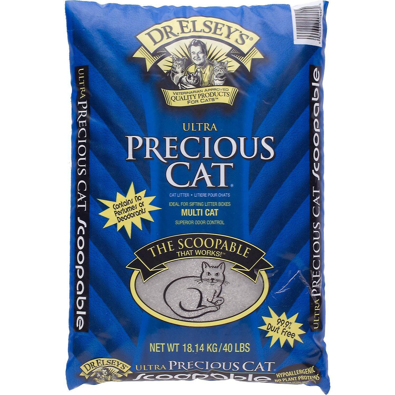 40lbs Precious Cat Ultra Premium Clumping Cat Litter  $15 or Free After Rebate