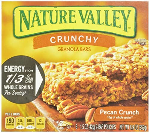 Nature Valley Crunchy Granola Bars, Pecan Crunch, 12-Count Boxes 1.5 Oz Bars (Pack of 12) $7.58 or less + free shipping