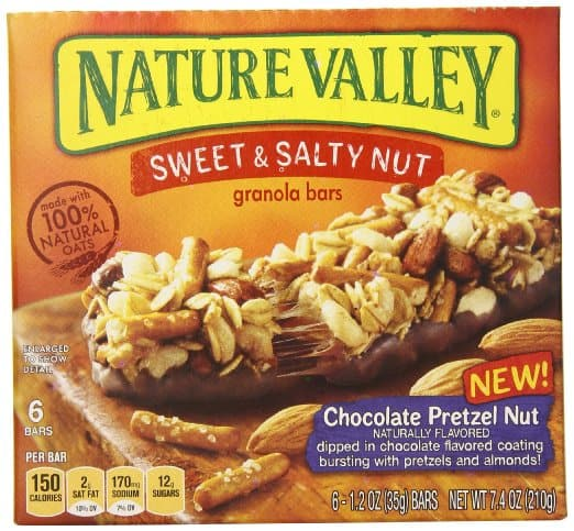 6-Ct of 1.2oz Nature Valley Sweet & Salty Chocolate Pretzel Nut Granola Bars $2.05 - Free Amazon Shipping S&S