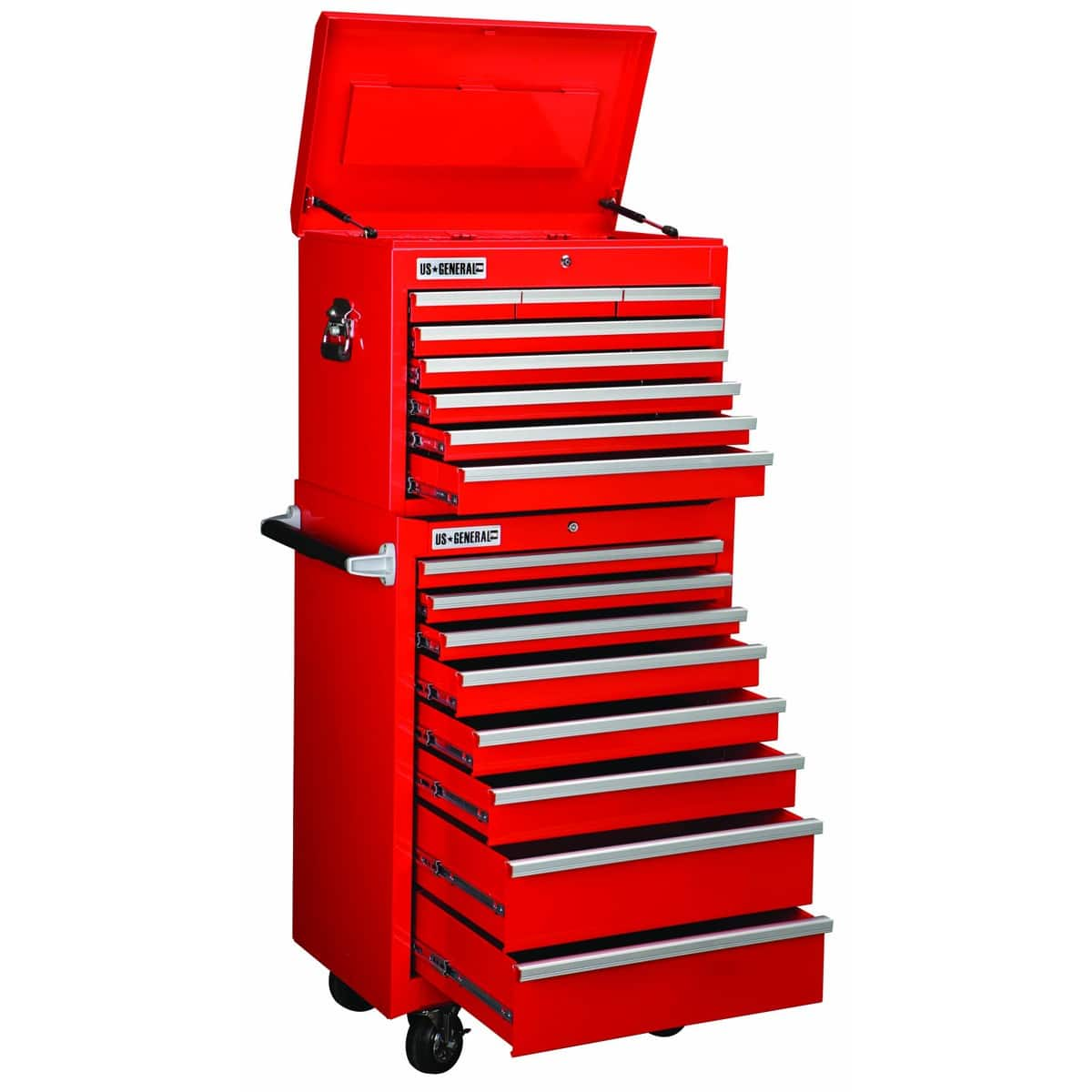 "26"" 16-Drawer Harbor Freight US General Red Tool Storage Cabinet  $300"