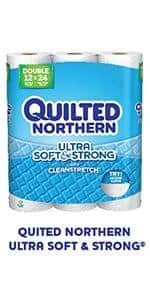 24-Count Quilted Northern Ultra Soft and Strong Bath Tissue (Supreme Rolls) $18.07 or less + free shipping