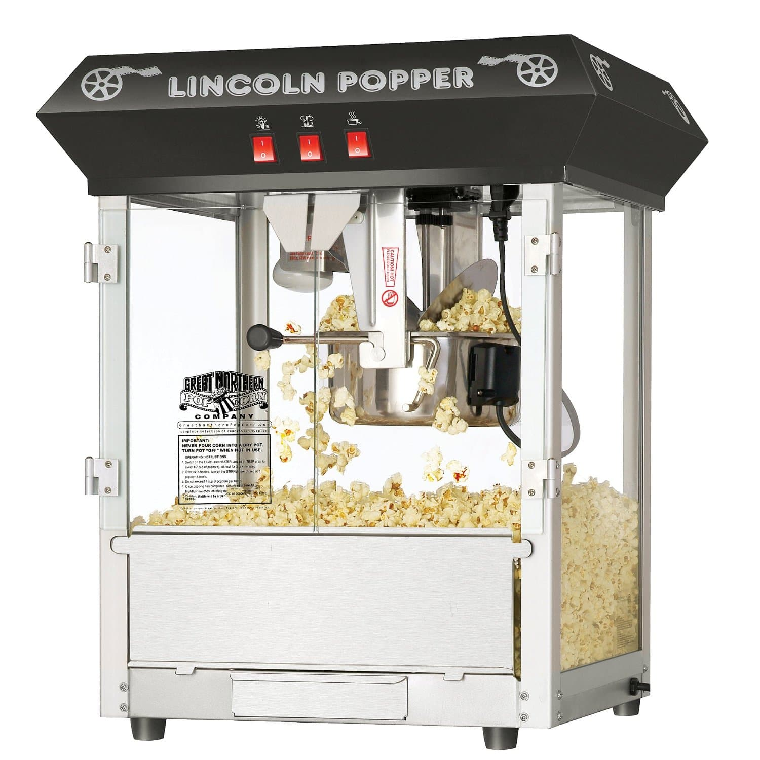 Great Northern Popcorn Black Bar Style Lincoln 8 Ounce Antique Popcorn Machine $119.99  Amazon - Lowest price ever