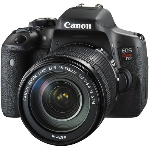 Canon T6i DSLR + 18-135mm f/3.5-5.6 IS STM Lens + PRO-100 Printer  $750 after $350 Rebate + Free S&H