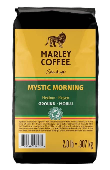 Marley Coffee, 30% Off Coupon, Marley Coffee Mystic Morning, Ground, 2 Pound, $13.63 AC + 15 % S&S @ Amazon ~ Ethiopian YirgaCheffe, 8 Ounce $4.18 + others