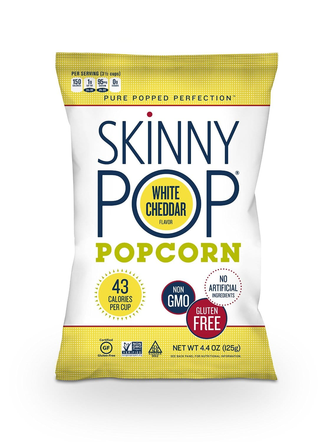 SkinnyPop Popcorn - White Cheddar - 4.4 Ounce Bag - $2.12 AC & S&S ($1.84 AC & 5 S&S Orders) - Amazon.com