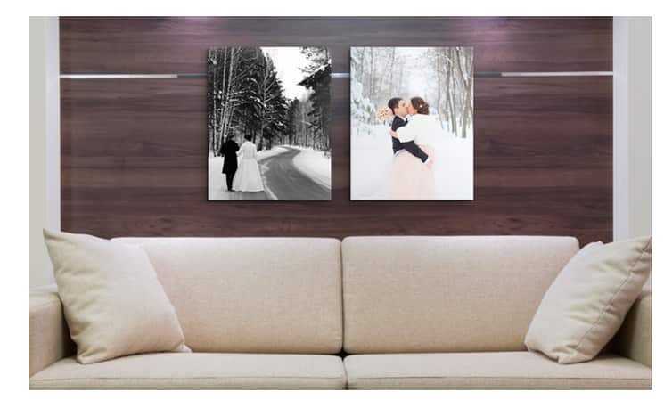"2-Pack Canvas on Demand 20""x16"" Canvas Wrapped Photos  $35 + Free Shipping"