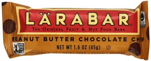 16-Count 1.6oz Larabar Peanut Butter Chocolate Chip Bars  $12.50 & More + Free Shipping