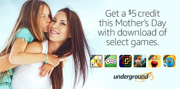 $5 Amazon Credit w/ Amazon Underground App & Game Download (New Users)  Free w/Android Device