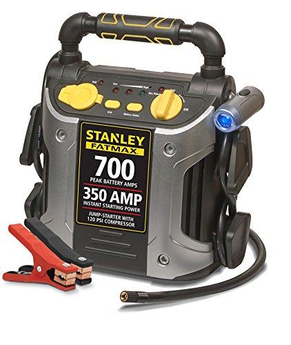 Stanley FatMax 700-Amp Peak Jump Starter w/ Compressor + 12-Month Priority Auto Assistance Membership  $40 + Free Store Pickup