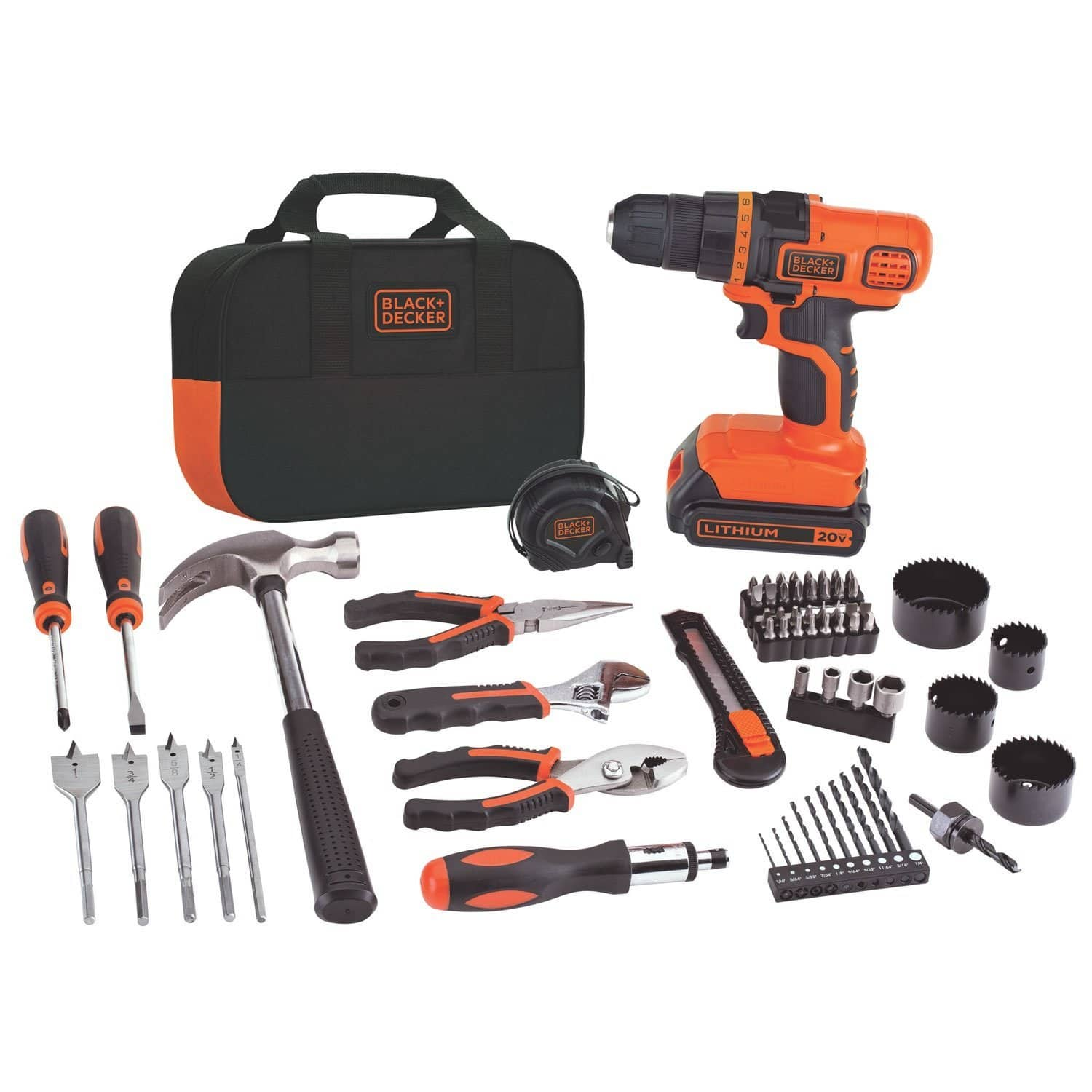 Black & Decker 20-Volt Max Lithium-Ion Drill and Project Kit (LDX120PK)  $60 + Free Shipping