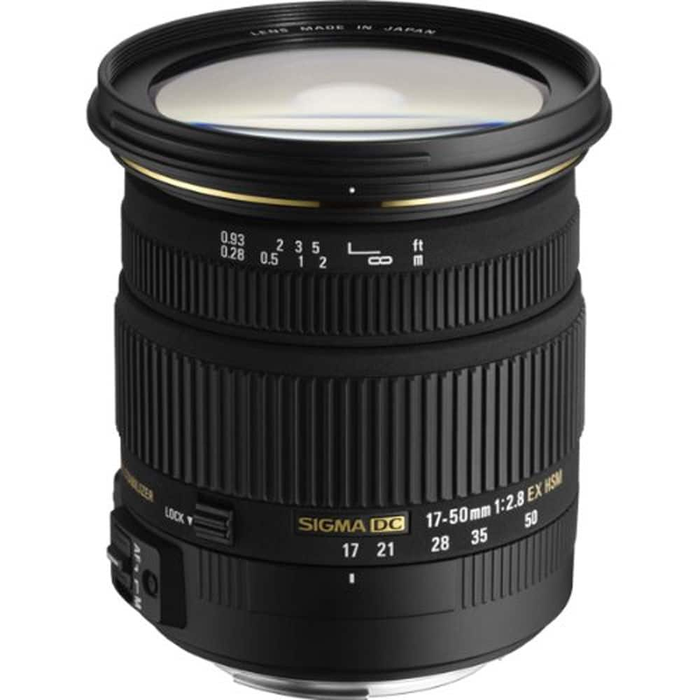 Sigma 17-50mm f/2.8 EX DC OS HSM FLD Standard Zoom Lens (Nikon and Canon)  $299 + Free Shipping