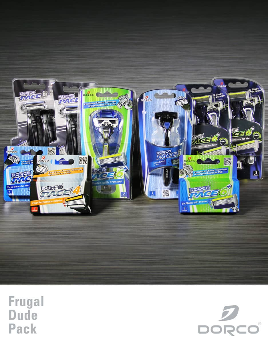 Dorco Frugal Dude Pack: 2 Handles + 16 Cartridges + 6 Disposable Razors  $23.90 + Free Shipping
